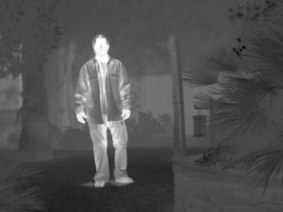 Thermal image of a man