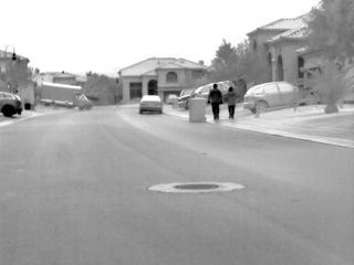 thermal image of the road
