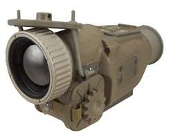 Clip on thermal rifle scope weapon sighting system.  long range clip on thermal scope.