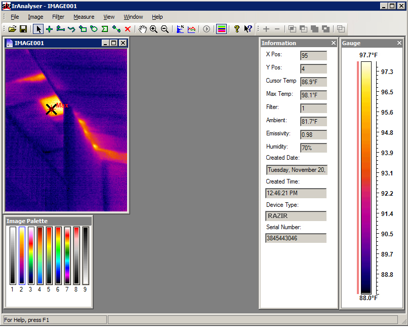 IR Analyzer screenshot